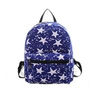 Рюкзак женский синий с принтом, фото 1