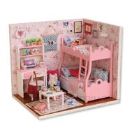 """Детская игрушка кукольный домик с мебелью """"Розовые сновидения"""", ZQW07, Dolemikki, фото 1"""
