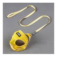 Сетчатая шлейка-жилетка с поводком желтого цвета  P0029-05 Удачная покупка, фото 1