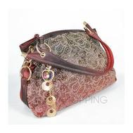 Женская красная сумка с короткими ручками на молнии c080 Kingth Goldn, фото 1