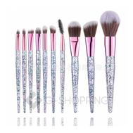 Набор кистей для макияжа с блестящей прозрачной ручкой 10 шт. CB005 TOUCHING NATURE, фото 1