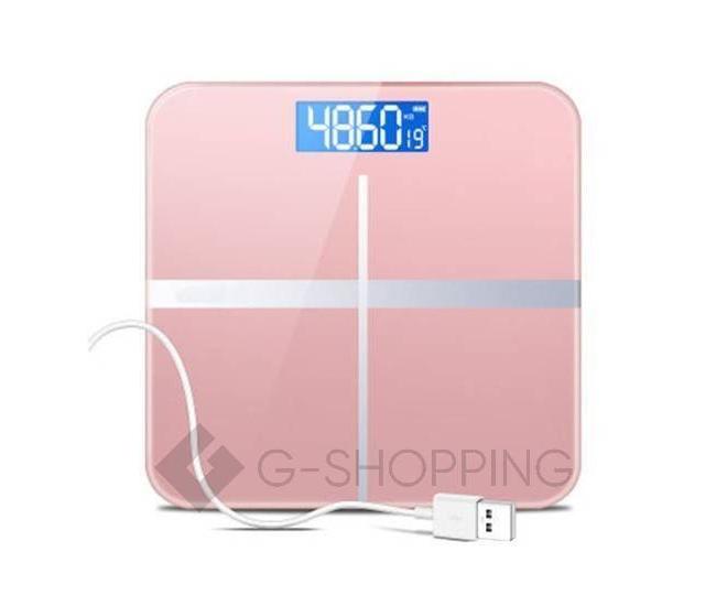 Напольные электронные весы розовые GB-BS001, фото 1