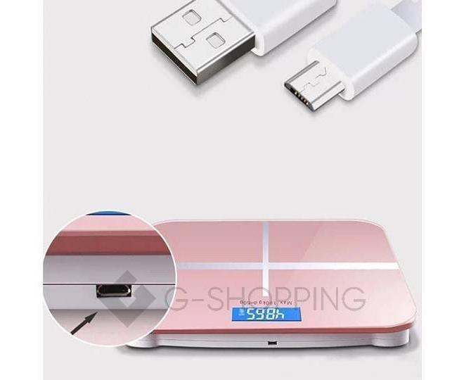 Напольные электронные весы розовые GB-BS001, фото 2