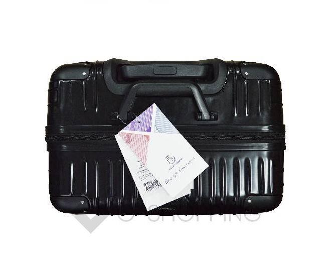 Пластиковый чемодан на колесиках черный DL072 3,4кг