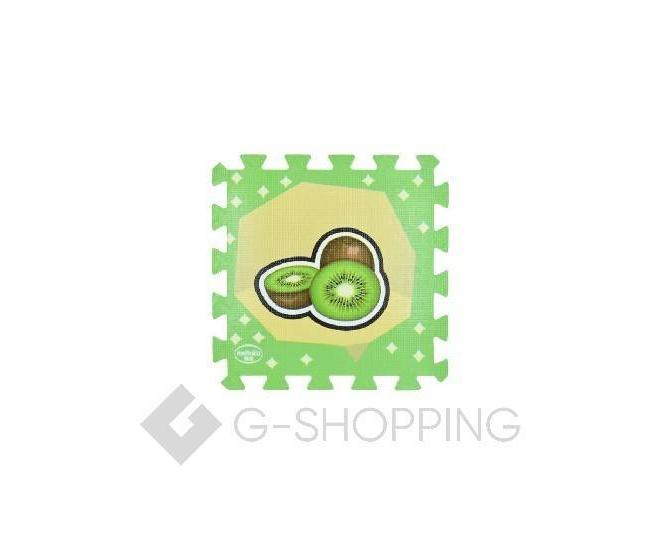 """Детская игра развивающий коврик пазл 3D Meitoku """"Cочные фрукты"""" 9 деталей, фото 1"""