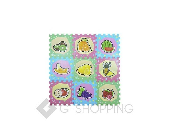 """Детская игра развивающий коврик пазл 3D Meitoku """"Cочные фрукты"""" 9 деталей, фото 6"""