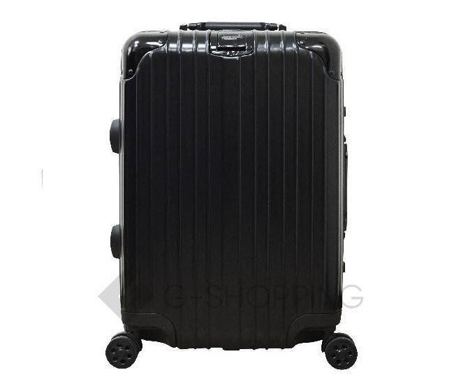 Пластиковый чемодан на колесиках черный РС151 5,4кг, фото 5