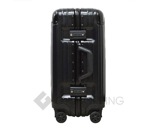 Пластиковый чемодан на колесиках черный РС151 5,4кг, фото 6