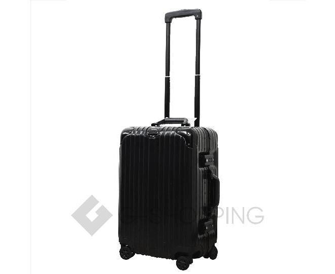 Пластиковый чемодан на колесиках черный РС151 5,4кг, фото 7