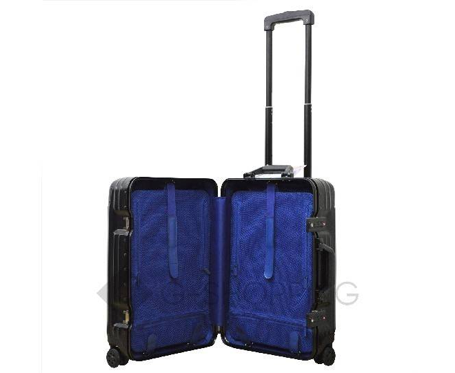 Пластиковый чемодан на колесиках черный РС151 5,4кг, фото 8