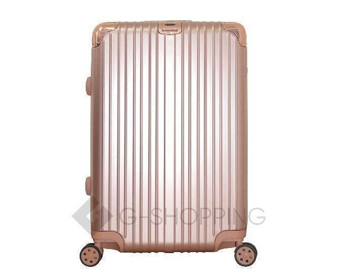 Пластиковый чемодан на колесах золотой РС151 5,4кг, фото 2