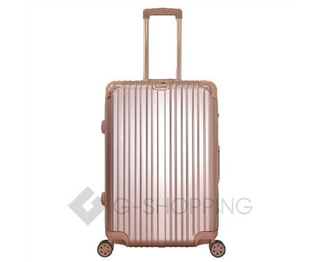 Пластиковый чемодан на колесах золотой РС151 5,4кг, фото 1