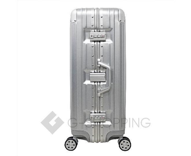 Пластиковый чемодан на колесиках серебряный РС151 5,4кг, фото 4