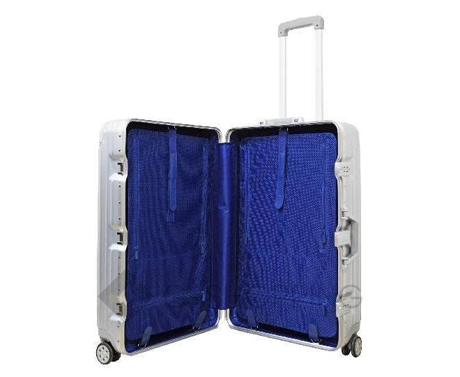 Пластиковый чемодан на колесиках серебряный РС151 5,4кг, фото 6