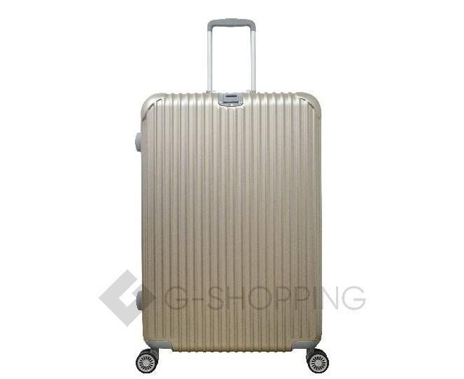 Пластиковый чемодан на колесиках золотой РС140 6кг, фото 1