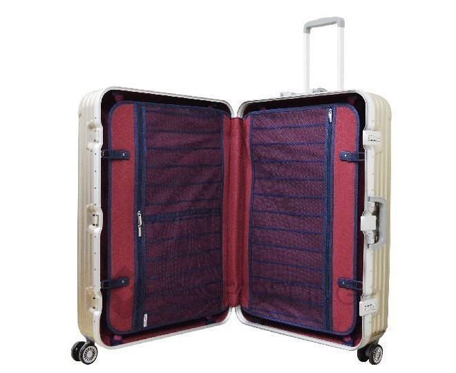 Пластиковый чемодан на колесиках золотой РС140 6кг, фото 5