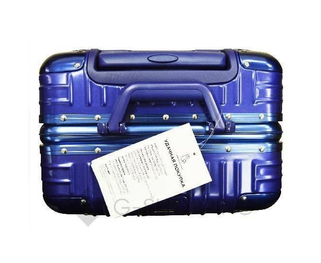 Пластиковый чемодан на колесиках синий PC151 3,9кг