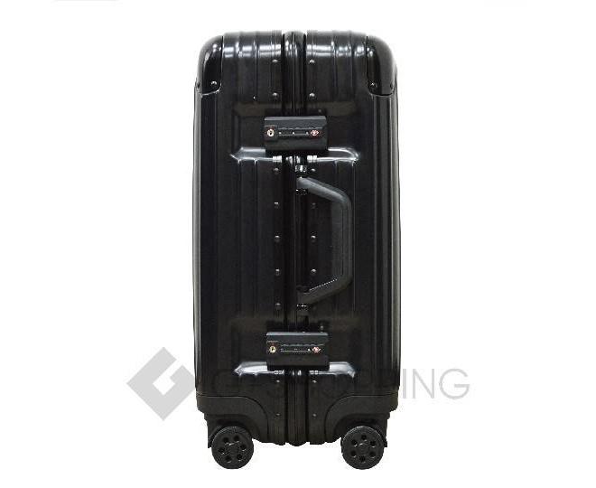 Пластиковый чемодан на колесиках чёрный PC151 4,8кг, фото 5