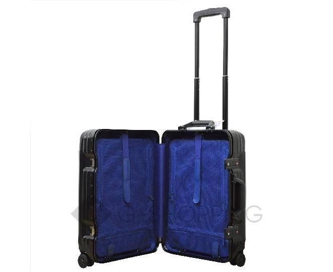 Пластиковый чемодан на колесиках чёрный PC151 4,8кг, фото 7