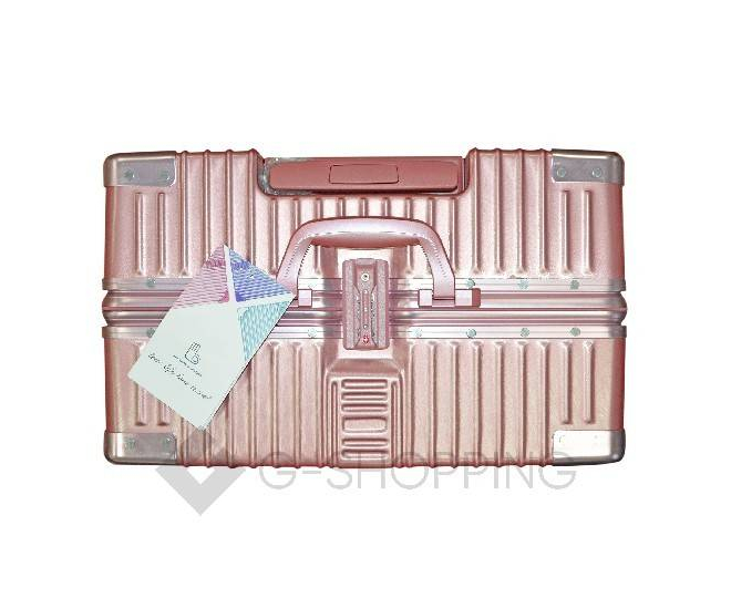 Пластиковый чемодан на колесиках розовый DL068 4кг
