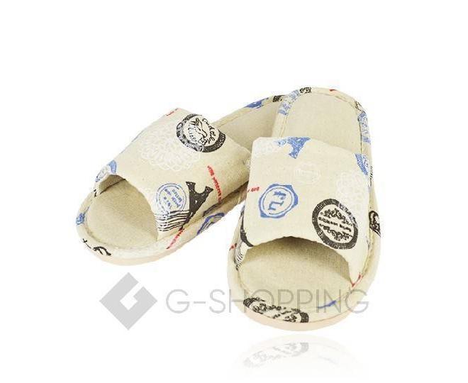 Тапочки мужские с открытым мысом на резиновой подошве TX-RS17 размер 43, фото 1