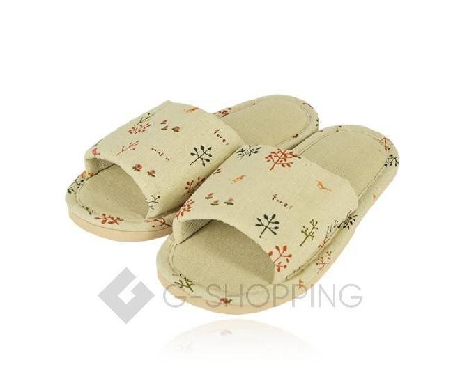 Тапочки женские  с открытым мысом на резиновой подошве TX-RS16 размер 37, фото 4