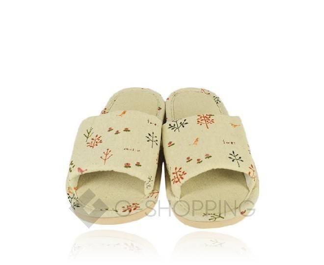 Тапочки женские  с открытым мысом на резиновой подошве TX-RS16 размер 38, фото 2