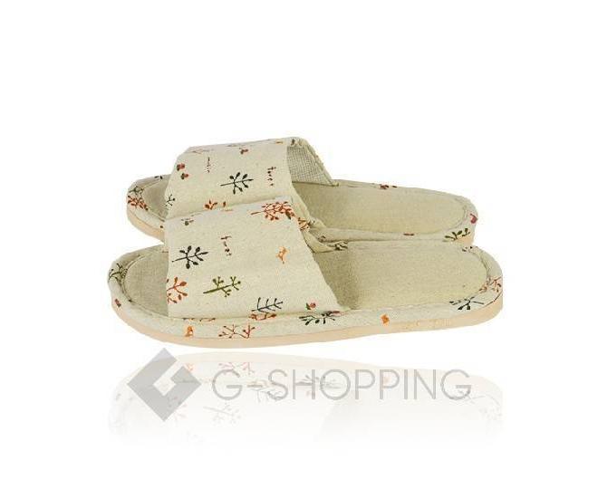 Тапочки женские  с открытым мысом на резиновой подошве TX-RS16 размер 38, фото 4