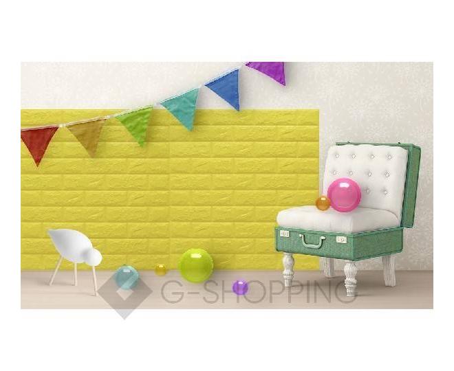 Панели для стен мягкие желтые 70*77*0.1, фото 7