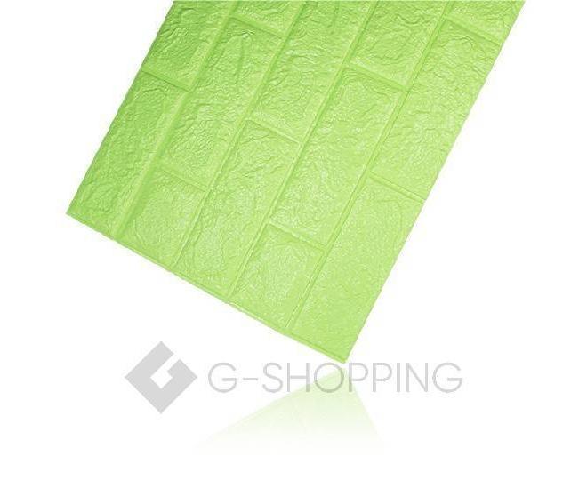 Самоклеящиеся мягкие панели для стен мягкие зеленые 70*77*0.1, фото 7