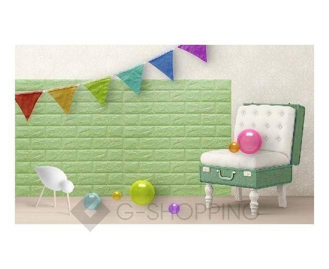 Самоклеящиеся мягкие панели для стен мягкие зеленые 70*77*0.1, фото 8