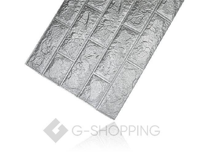 Самоклеющиеся панели для стен мягкие серые 70*77*0.1, фото 7