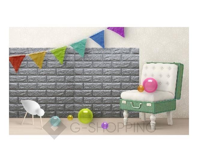 Самоклеющиеся панели для стен мягкие серые 70*77*0.1, фото 8