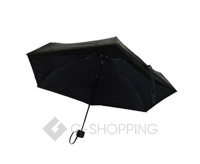 Стильный складной черный зонт 90 см
