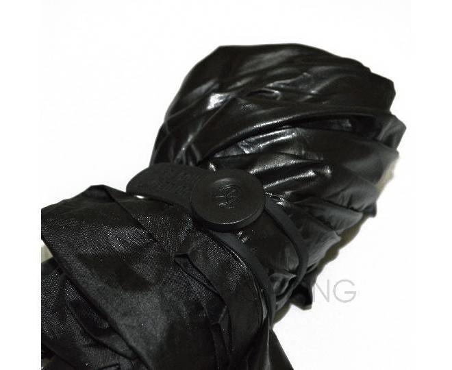 Стильный складной черный зонт 90 смСтильный складной черный зонт 90 см