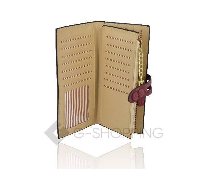 Женский кошелек Kingth Goldn с067 красный с кнопочным замком