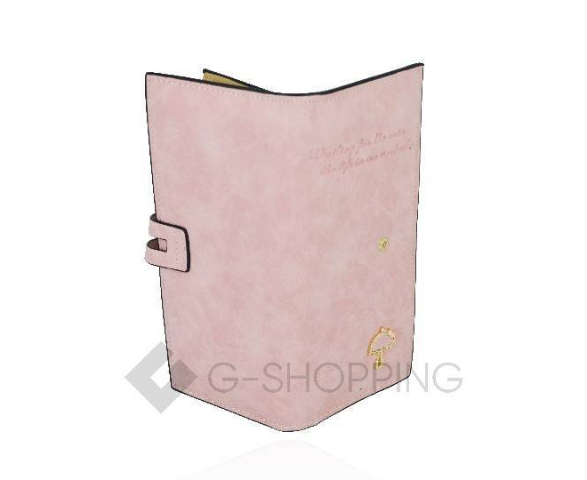 Кошелёк Kingth Goldn с067 розовый с кнопочным замком