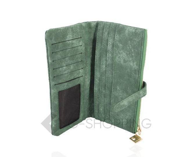 Женский кошелек Kingth Goldn с070 зеленый с ремешком-застежкой