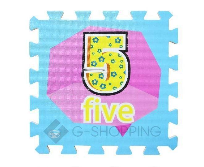 Детская игра развивающий коврик пазл 3D Meitoku Цифры 10 деталей, фото 3