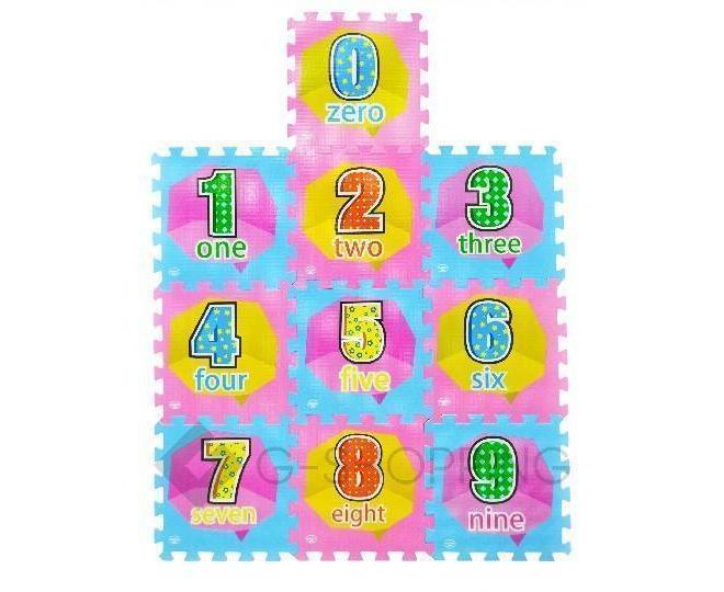 Детская игра развивающий коврик пазл 3D Meitoku Цифры 10 деталей, фото 1