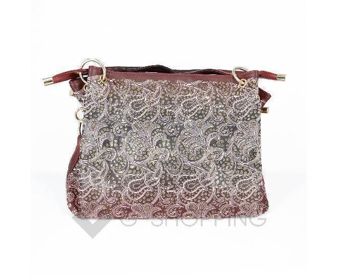 Женская красная сумка с короткими ручками на молнии c080 Kingth Goldn, фото 6