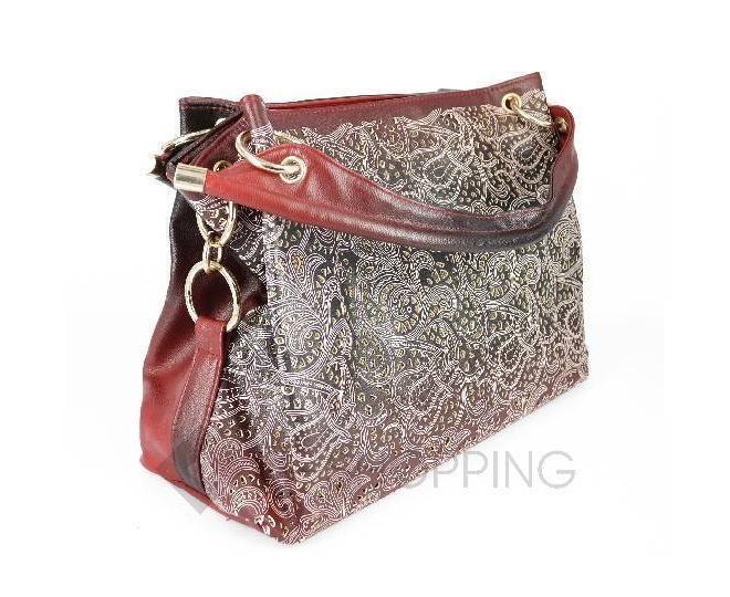 Женская красная сумка с короткими ручками на молнии c080 Kingth Goldn, фото 7
