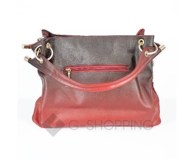 Женская красная сумка с короткими ручками на молнии c080 Kingth Goldn, фото 8
