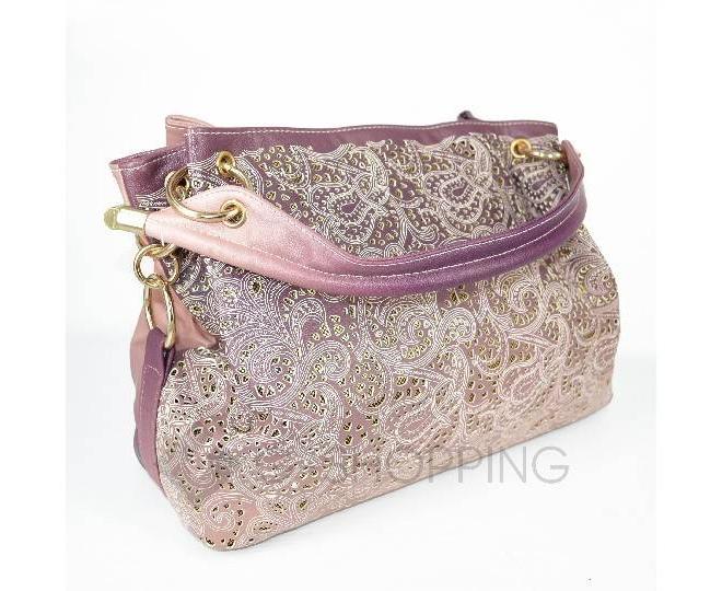 Женская розовая сумка с короткими ручками на молнии c080 Kingth Goldn, фото 6