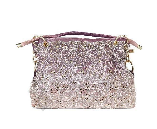 Женская розовая сумка с короткими ручками на молнии c080 Kingth Goldn, фото 7