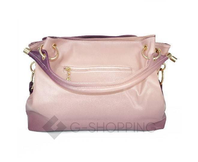 Женская розовая сумка с короткими ручками на молнии c080 Kingth Goldn, фото 8