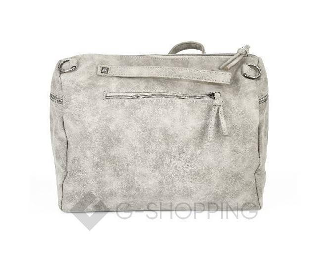 Женская серая сумка на молнии среднего размера c082 Kingth Goldn, фото 6