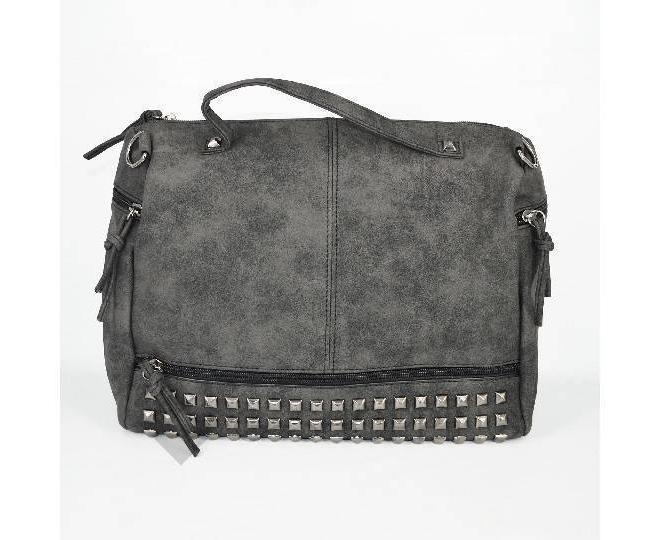 Женская черная сумка на молнии среднего размера c082 Kingth Goldn, фото 5