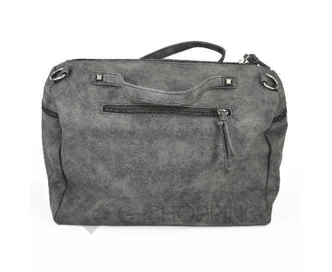 Женская черная сумка на молнии среднего размера c082 Kingth Goldn, фото 6