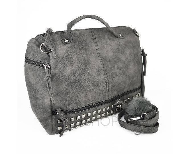 Женская черная сумка на молнии среднего размера c082 Kingth Goldn, фото 7